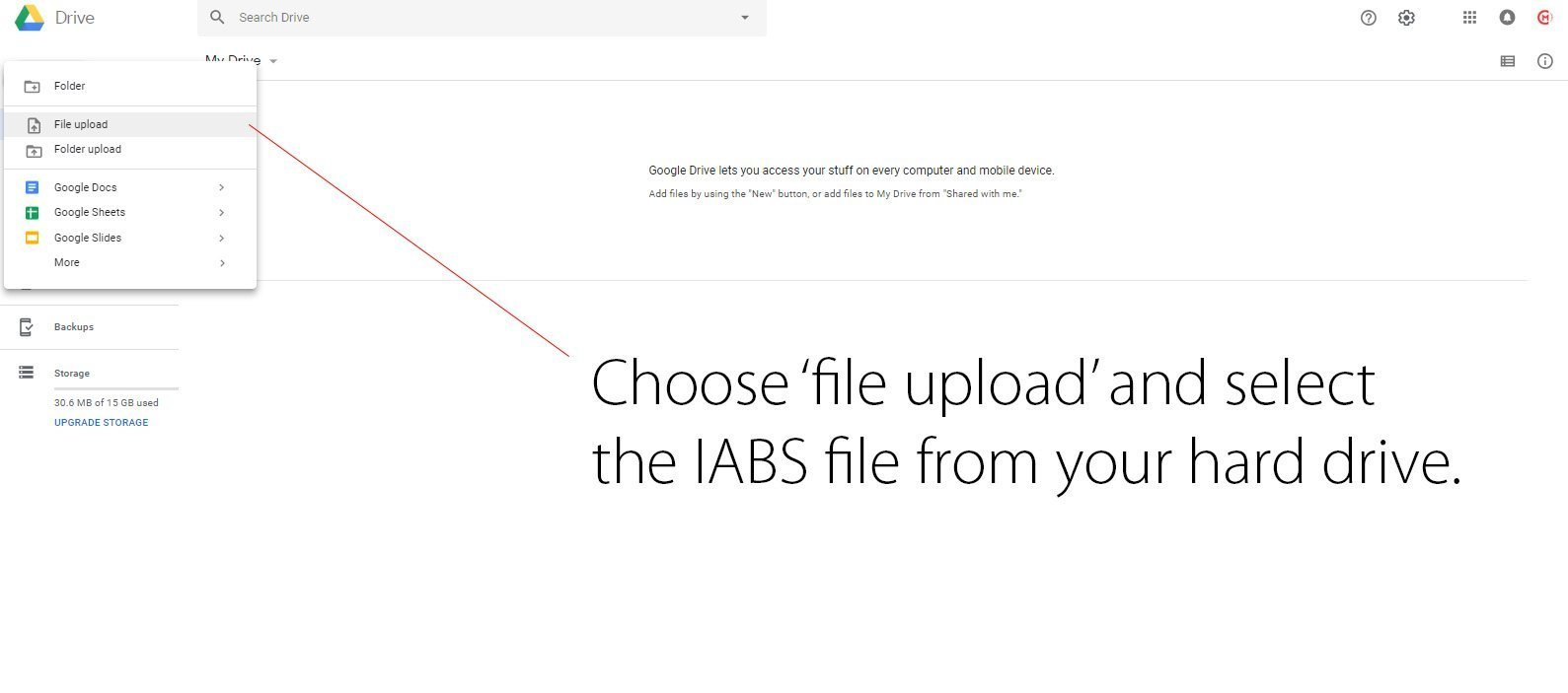 How to add IABS form to email signature step 2