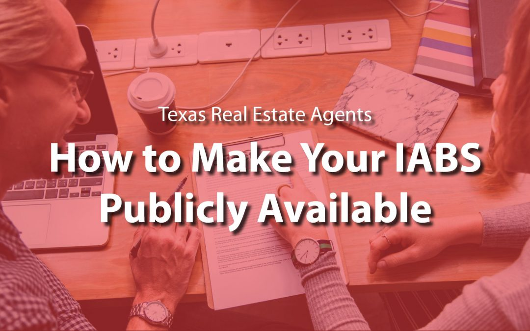 How to: Make Your IABS Form Publicly Available