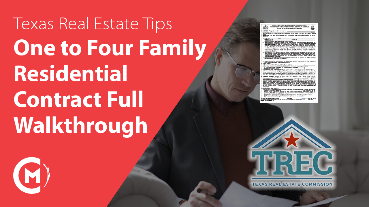 One to Four Family Residential Contract Texas Real Estate Form